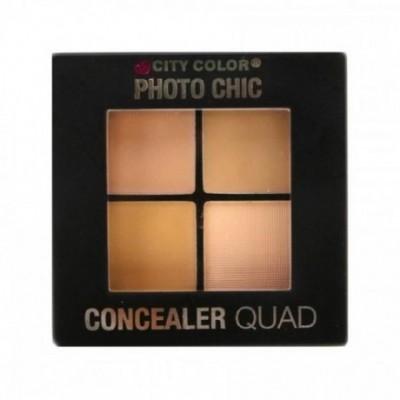 City Color Photo Chic Concealer Quad Palette - 1.1 LIGHT