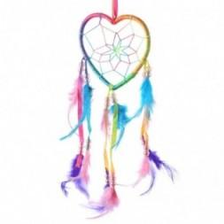 Heart Shaped Rainbow Dreamcatcher