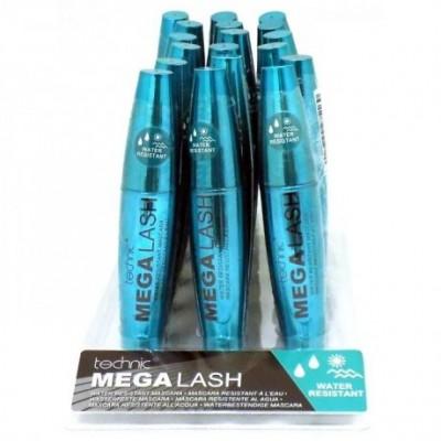 Technic Mega Lash Water Resistant Mascara - BLACK