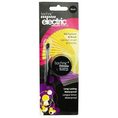 Technic Electric Beauty Gel Eyeliner & Brush - BLACK