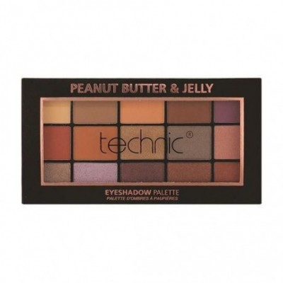 Technic 15 Eyeshadows Palette - PEANUT BUTTER AND JELLY