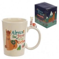 Alpaca Handle Ceramic Mug
