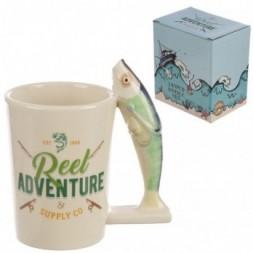 Fish Handle Ceramic Mug