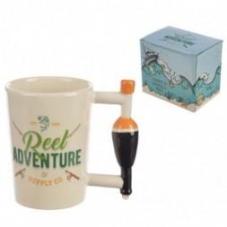 Fishing Float Handle Ceramic Mug