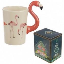 Flamingo Handle Ceramic Mug
