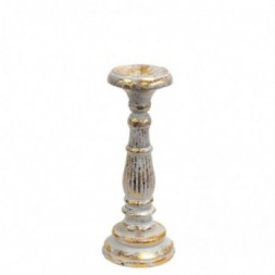 Small Candle Stand - White and Gold