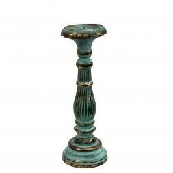 Medium Candle Stand - Turquoise and Gold