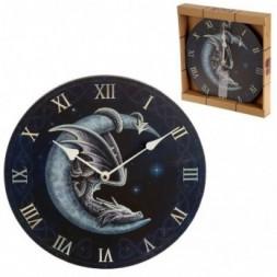 Sweet Dreams Dragon in Moon Wall Clock
