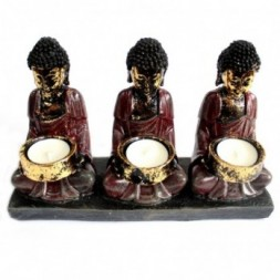 Buddha  Devotees Candle Holder