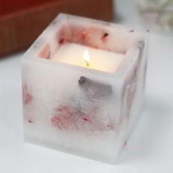 Enchanted Candle - Large Square - Rose