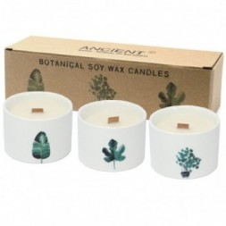 Botanical Candles, medium - Japanese Garden - Pack of 3