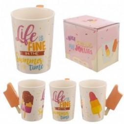 Ice Lolly Handle Ceramic Mug