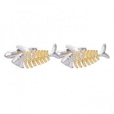 Fish Bones Cufflinks