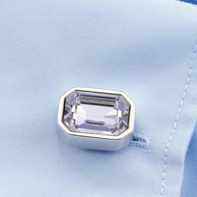Purple Crystal Fashionable Cufflinks