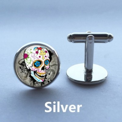 Colourful Skull Gothic Cufflinks
