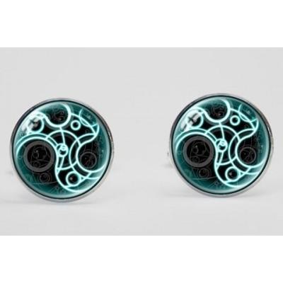 Green Swirl Cufflinks