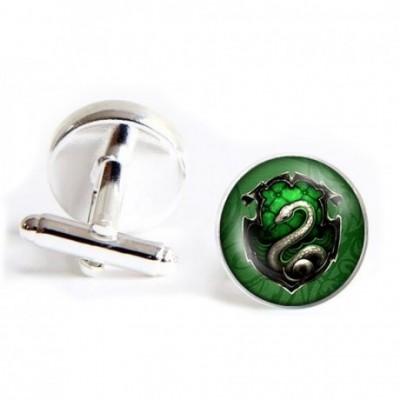 Hogwarts School Green Snake Seal Cufflinks