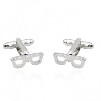 Eye Glasses Silver Cufflinks