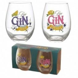 Gin Slogans Glass Tumblers