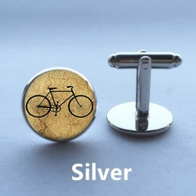 Bicycle Silver-plated Cufflinks