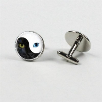 Cat Face Yin Yang Cufflinks