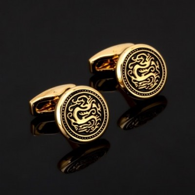Dragon Gold-plated Cufflinks