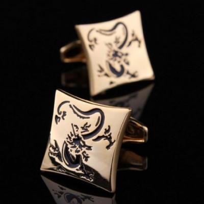 Oriental Dragon Gold-plated Cufflinks