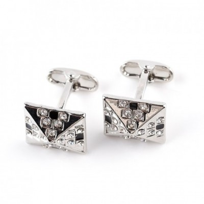 Egyptian Pyramids Crystal Silver-coloured Cufflinks