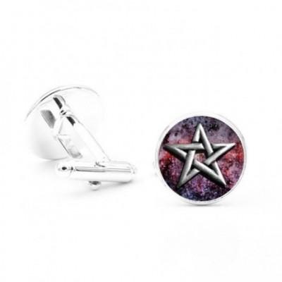 Pentagram Raised Cufflinks