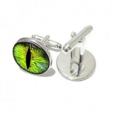 Green Dragon Eye Cufflinks