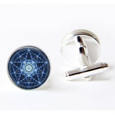 Blue Pentagram Cufflinks