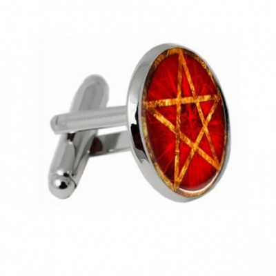 Orange Pentagram Cufflinks