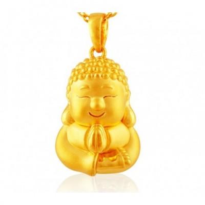 Happy Buddha 24k Gold Pendant