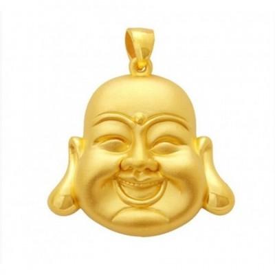 Laughing Buddha Hotei 24k Gold Pendant