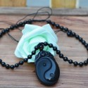 Ying Yan Obsidian Amulet Necklace