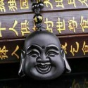 Laughing Buddha Hotei Amulet Necklace