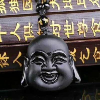 Laughing Buddha Hotei Amulet Necklace