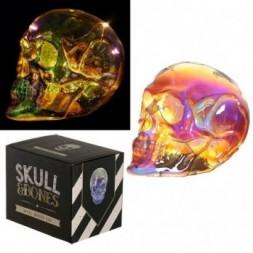 Large  LED Light - Metallic Iridescent Skull