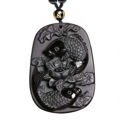 Ashtamangala Fish Amulet Necklace
