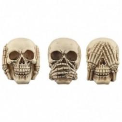 Skull Set - See No Evil, Speak No Evil, Hear No Evil