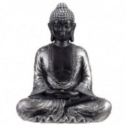 Black and Silver Thai Buddha - Peace
