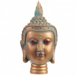 Copper and Verdigris Thai Buddha Bust