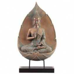 Copper and Verdigris Thai Abhaya Mudra Buddha Statue