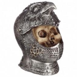 Skull in Medieval Bird Helmet Ornament