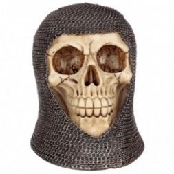 Chain Mail Skull Ornament