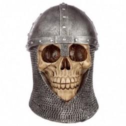 Chain Mail Helmet Skull Ornament