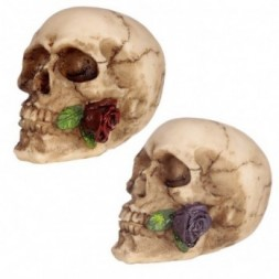 Gothic Skulls and Roses Ornament