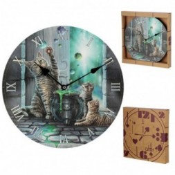 Cat Hubble Bubble  Wall Clock