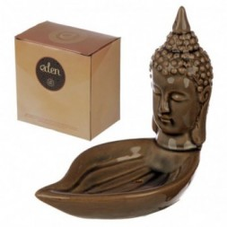 Eden Incense Burner - Thai Buddha Head and Leaf