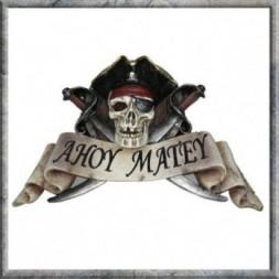 Undead Pirate Skull Plaque
